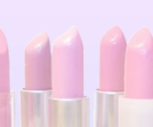 lipstick, pink, and pastel image