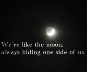 quote, dark, and moon image