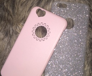 case, glitter, and rosa image