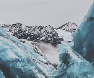 ice, mountains, and blue image