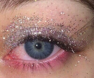 eyes, glitter, and grunge image
