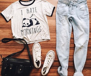 converse, jeans, and outfit image