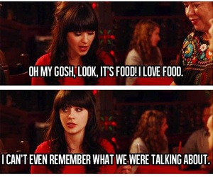 food, funny, and new girl image