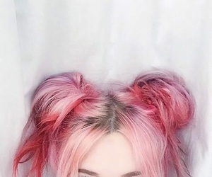 hair, pink, and eyes image