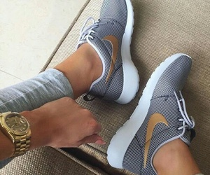 nike, shoes, and gold image