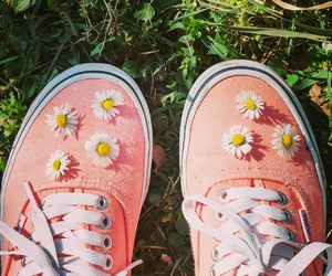 flowers, spring, and vans image