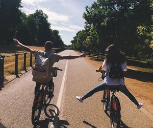 friends, bike, and boy image