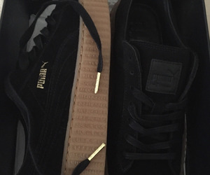 puma, shoes, and black image
