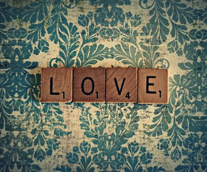 love, vintage, and scrabble image