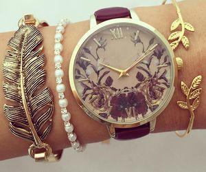 bracelets, clock, and watch image