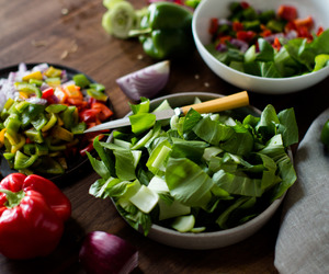 color, salad, and green image