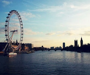 london, london eye, and city image