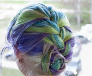 braid, colors, and rainbow image