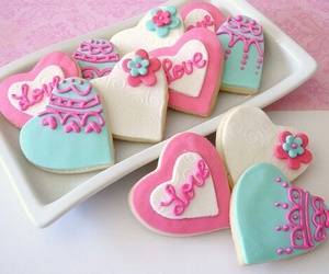 Cookies, food, and heart image