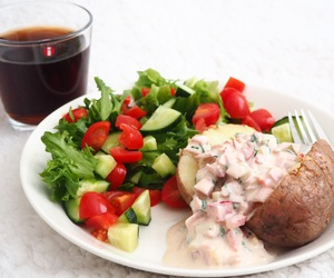 delicious, dinner, and drink image