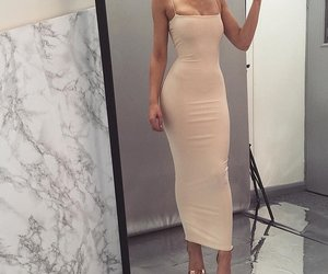 dress, fashion, and bodycon image