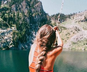 girl, summer, and adventure image