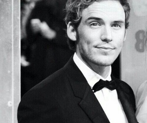 sam claflin, black and white, and Sam image