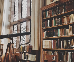 book, library, and tumblr image
