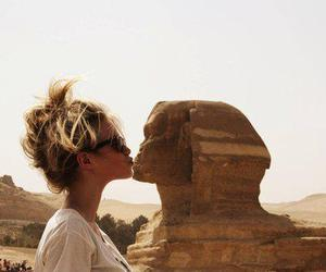 girl, egypt, and kiss image