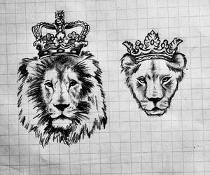lion, king, and Queen image