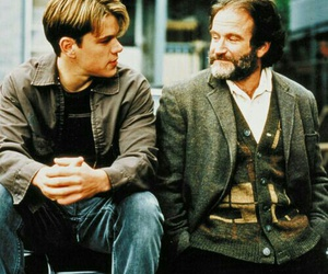 good will hunting, matt damon, and robin williams image