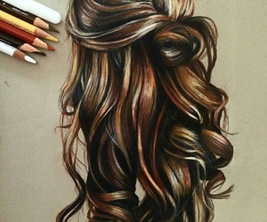 hair, art, and draw image
