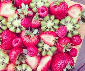 fruit, strawberry, and kiwi image