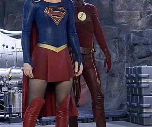 flash, barry allen, and Supergirl image