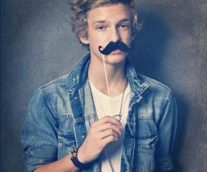 cody simpson, mustache, and boy image