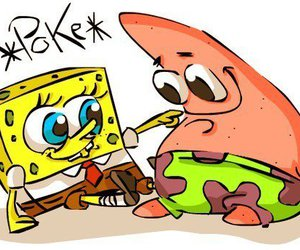 spongebob, patrick, and poke image