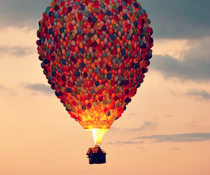 balloons, helium, and hot air balloons image