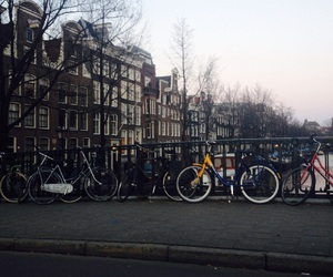 amsterdam, bikes, and canals image