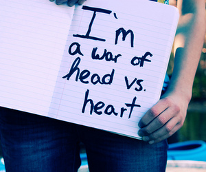 heart, head, and text image