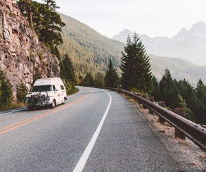 car, mountains, and машина image
