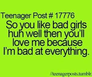 bad, funny, and teenager post image
