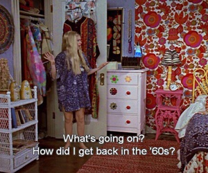 60s, room, and hippie image