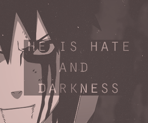 naruto, Darkness, and hate image