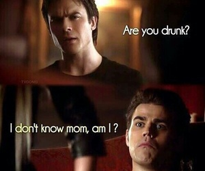 damon, the vampire diaries, and stefan image