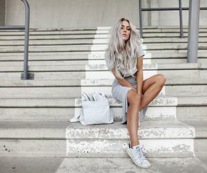 fashion, hair, and grey image