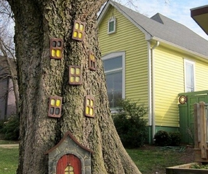 tree, house, and elf image