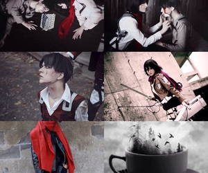 red scarf, tea, and snk image