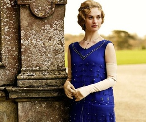 20th century, blonde, and blue dress image