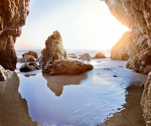 beach, landscape, and ocean image
