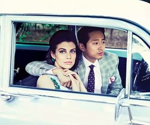 the walking dead, lauren cohan, and steven yeun image