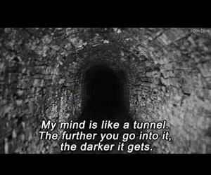 dark, mind, and quote image