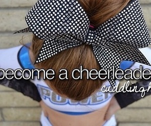 cheerleader, wish, and bucket list image