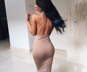 backless, straps, and tan image