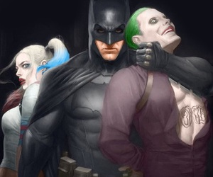 batman, harley quinn, and suicide squad image