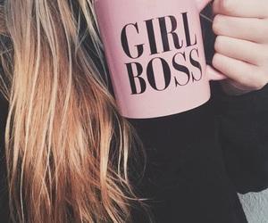 girl, pink, and boss image